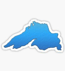 Great Lakes Lake Superior Outline Sticker