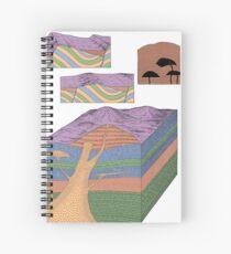 Geologie Schichten EncycloArt | Geographisches Geologen-Geschenk Spiralblock