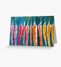 Colorful Carrot  Greeting Card