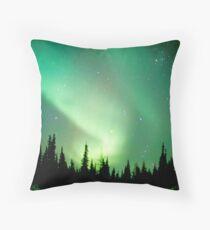 Aurora Borealis, Churchill, Manitoba Throw Pillow