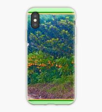 Back Road with Trumpet Flowers iPhone Case