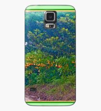 Back Road with Trumpet Flowers Case/Skin for Samsung Galaxy