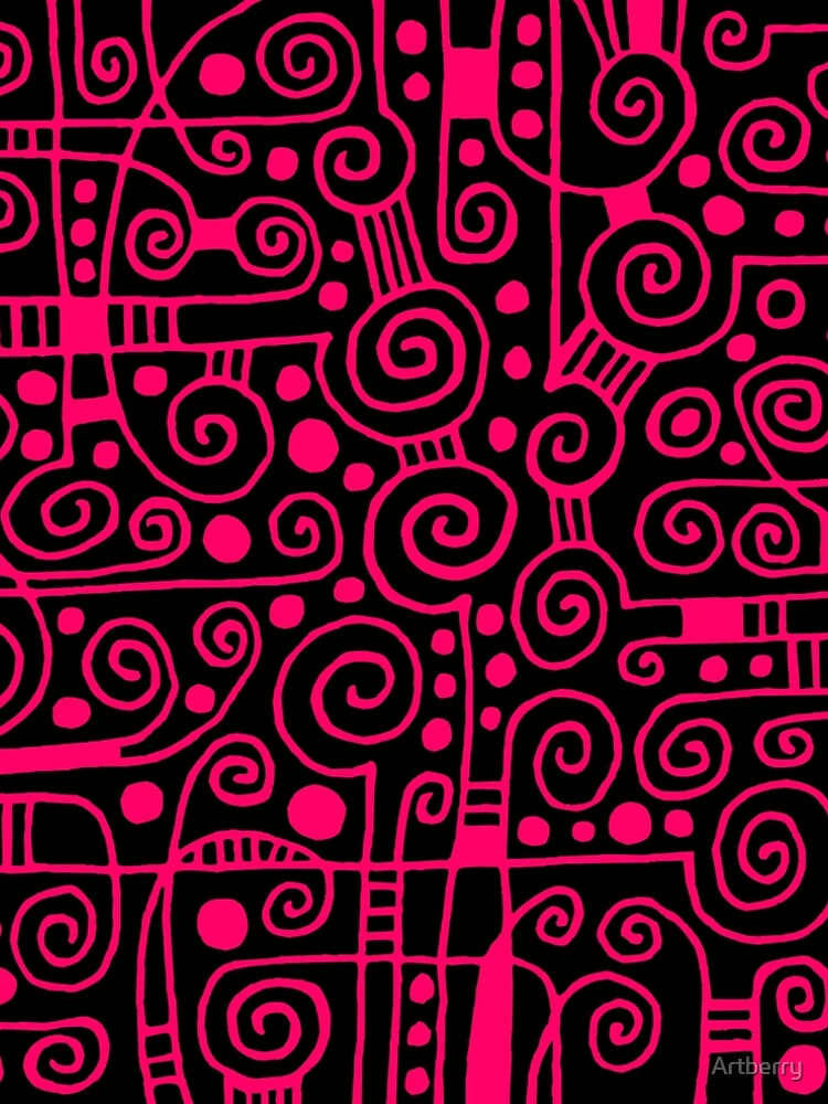 Abstract 040512 - Neon Red by Artberry