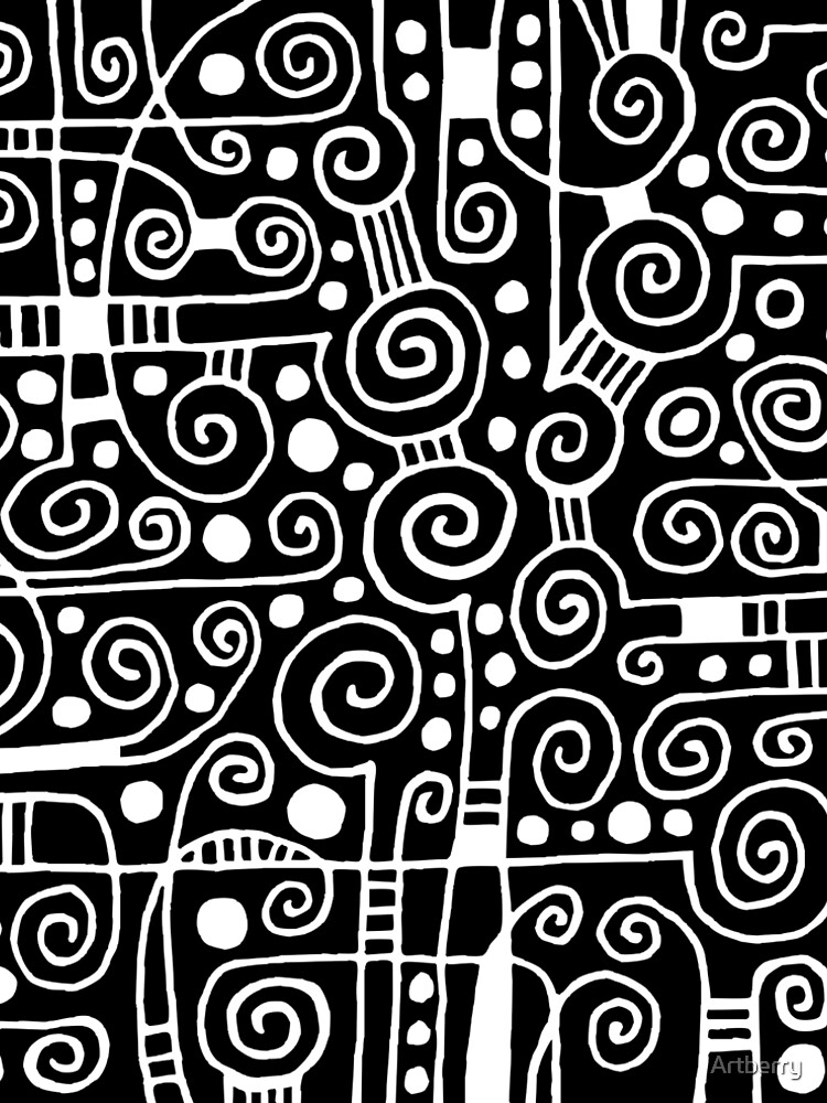Abstract 040512 - White on Black by Artberry