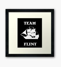 Team Flint with Ship Framed Print
