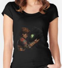 Hiccup & Toothless - Dragon Trainer Women's Fitted Scoop T-Shirt