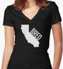 California Bred Women's Fitted V-Neck T-Shirt