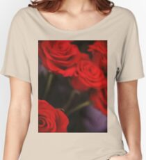 Analog photo of bunch bouquet of red roses Women's Relaxed Fit T-Shirt