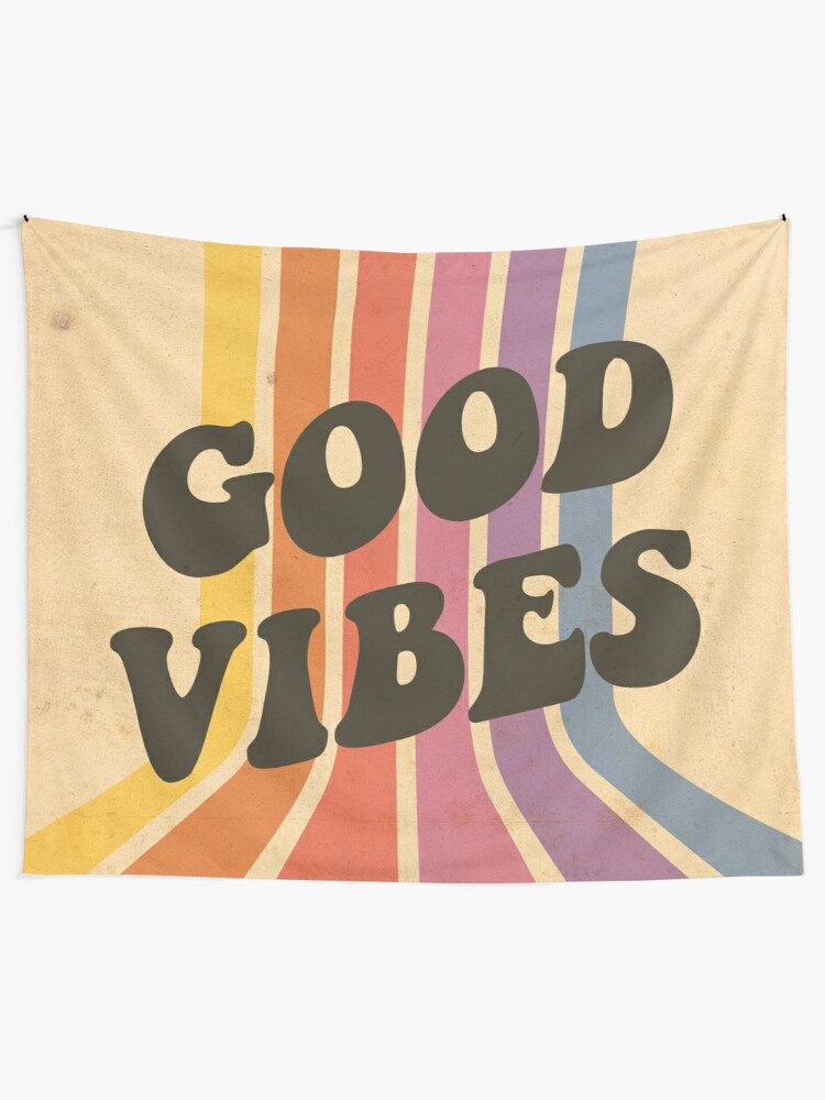 Alternate view of Good Vibes Tapestry