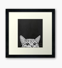 You asleep yet? Framed Print