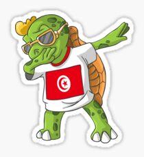 Tunisia Dabbing Turtle Sticker