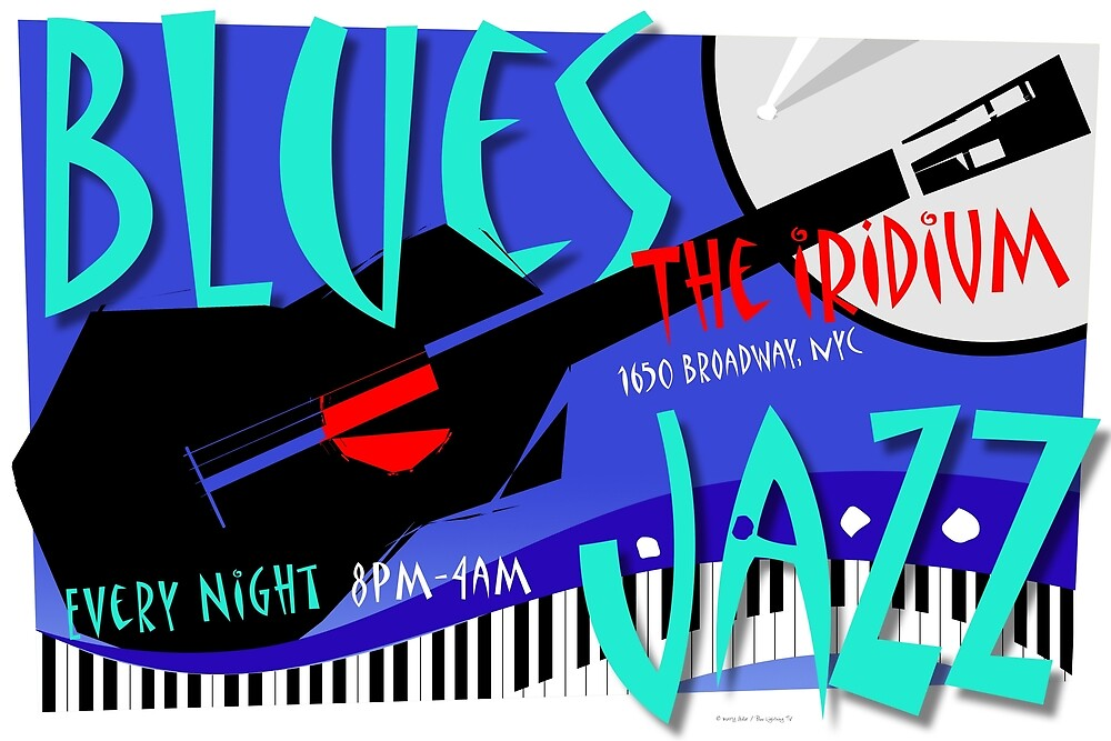 Blues / Jazz Poster by BLTV