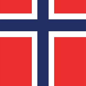 Norway Flag by designseventy