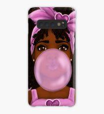 Bubble Gum- Little Black Girl Portrait Case/Skin for Samsung Galaxy