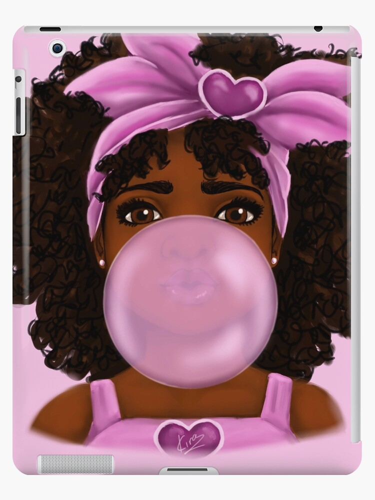 """Car Stickers Com >> """"Bubble Gum- Little Black Girl Portrait"""" iPad Case & Skin ..."""