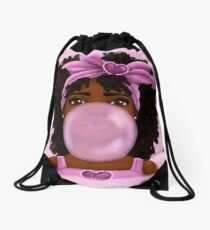 Bubble Gum Drawstring Bag