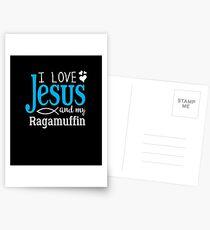 I Love Jesus, And My Ragamuffin  Postcards
