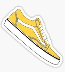 Yellow / Ochre / White Vans Sticker