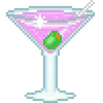 Pixel Purple Martini Glass by NicholiCosplay