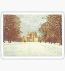Winter Castle Sticker
