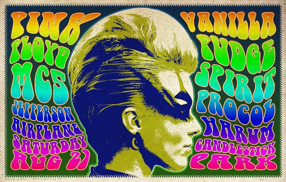 Psychedelic Rock Music Festival Poster II by BLTV