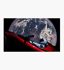 Tesla In Space  Photographic Print