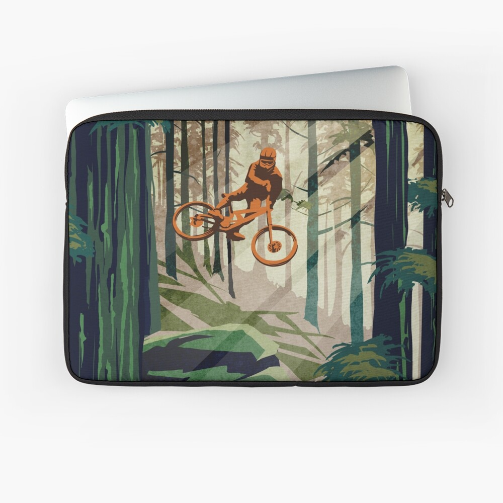 MY THERAPY: Mountain Bike! Laptop Sleeve