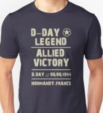D-DAY Normandy Allied Victory Unisex T-Shirt