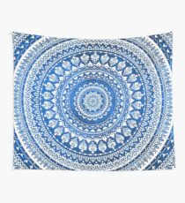 Mandala Blue Wall Tapestry