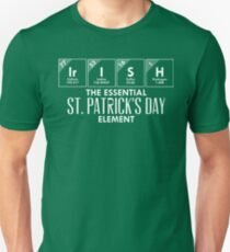 Irish St. Patrick's Day Element Shirt Chemistry Gear in White Unisex T-Shirt