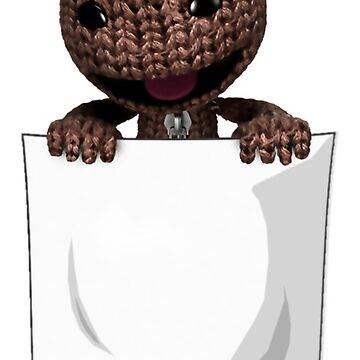 Peeping Sackboy Pocket (White) by Trixel