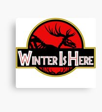 Winter Is Here Jurassic 2 Fury Canvas Print
