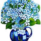 blue hydrangeas by marlene veronique holdsworth