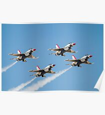 The United States Air Force Air Demonstration Team, The Thunderbirds Poster