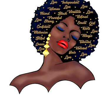 Black Woman  History T-shirt Afro Birthday Queen  by Tetete