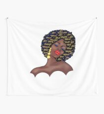 Black Woman  History T-shirt Afro Birthday Queen  Wall Tapestry