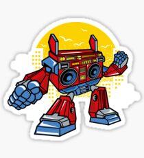 Boombox Robot Sticker