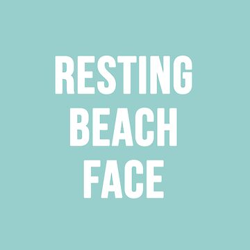 Resting Beach Face by RandomCotton