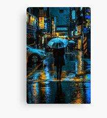 Incheon Rain Canvas Print