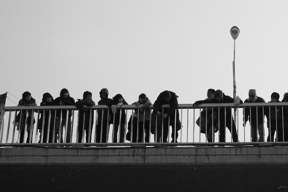 Koreans Watching Winter Parade by ThomasNicoll