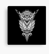 Owl Bird Animal Brutal Tattoo Style Graphic Art #66 Canvas Print