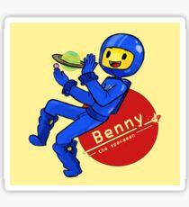 Benny the Spaceman Sticker
