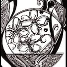 Planted, Ink Drawing by Danielle Scott