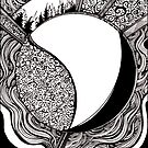 Emanation, Ink Drawing by Danielle Scott