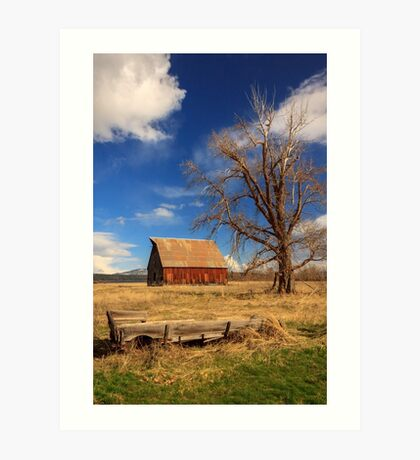 Old Barn And Wagon Art Print