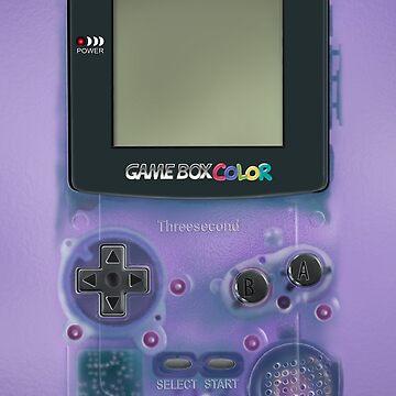 Mini videojuegos clásicos de color púrpura transparente de GalihArt