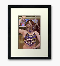 Belly Dancer Lance Framed Print