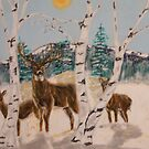 Morning Deer by cdcantrell