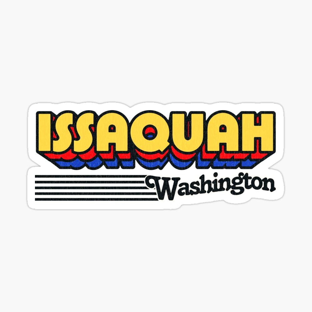 Issaquah, Washington | Retro Stripes Sticker