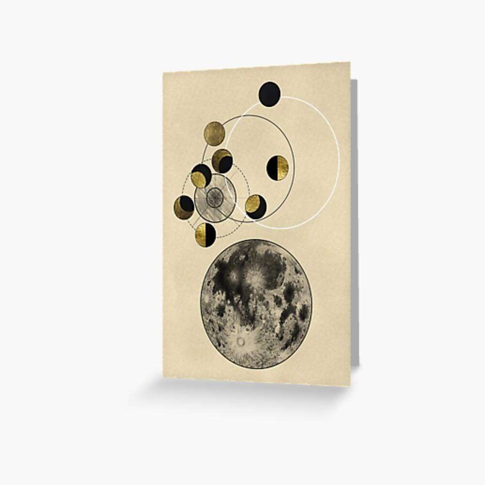 Phasen des Mondes Grußkarte